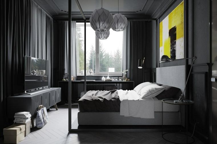 original diseño de habitaciones gris