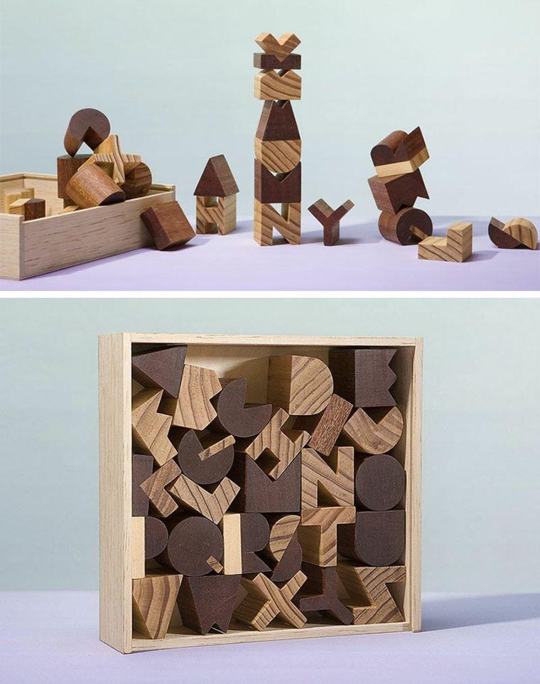 original diseño caja letras madera