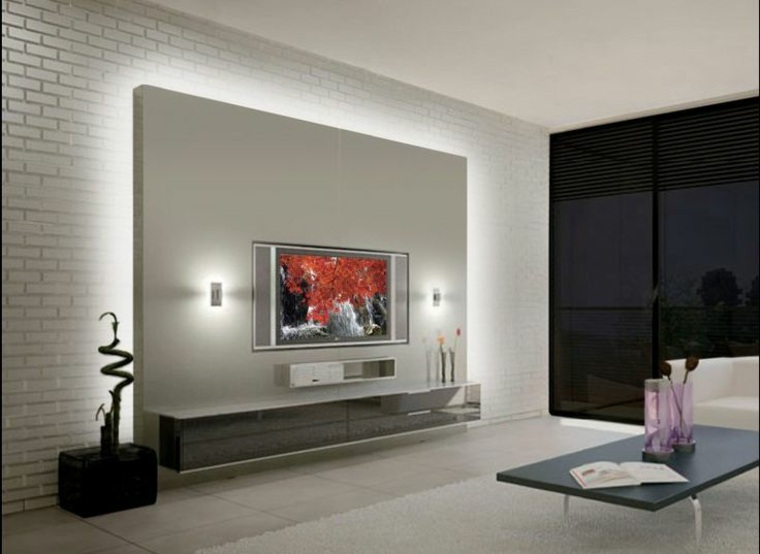 original diseño pared salón tv