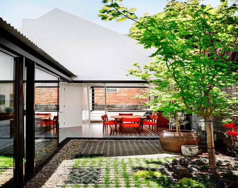 original diseño patio jardin