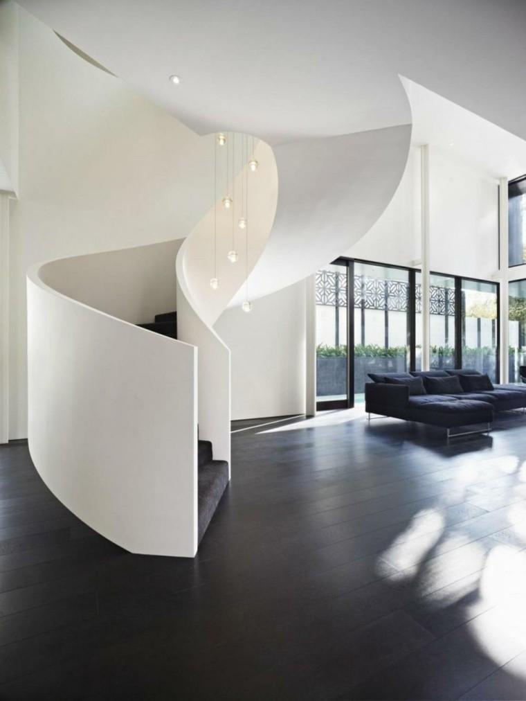 original diseo escalera caracol moderna