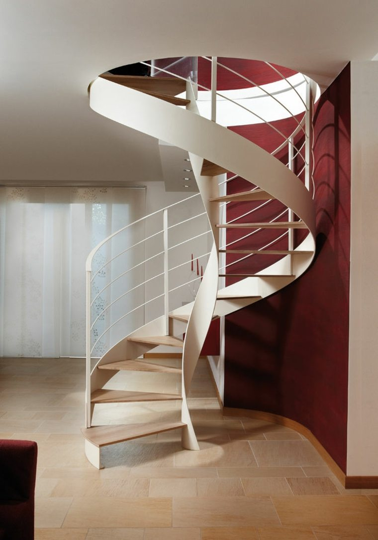 Escaleras de caracol modernas 24 dise os alucinantes for Decoracion para pared de escaleras