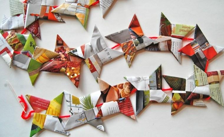 original guirnalda navidad papel origami