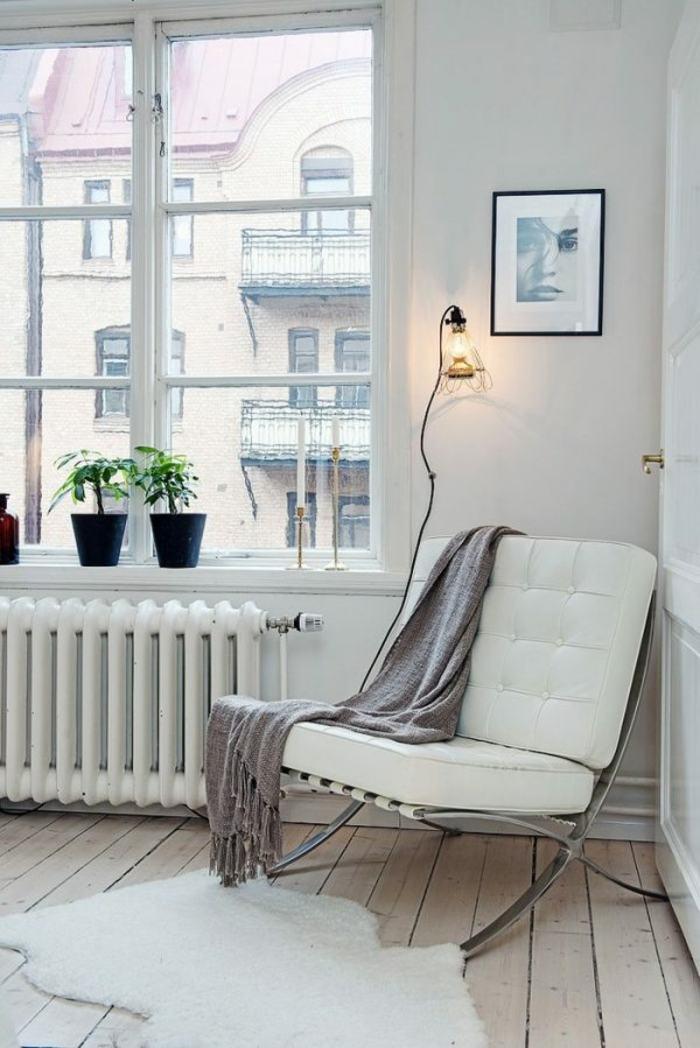 original sillón acolchado blanco