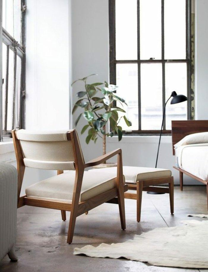 original sillón tapizado beige