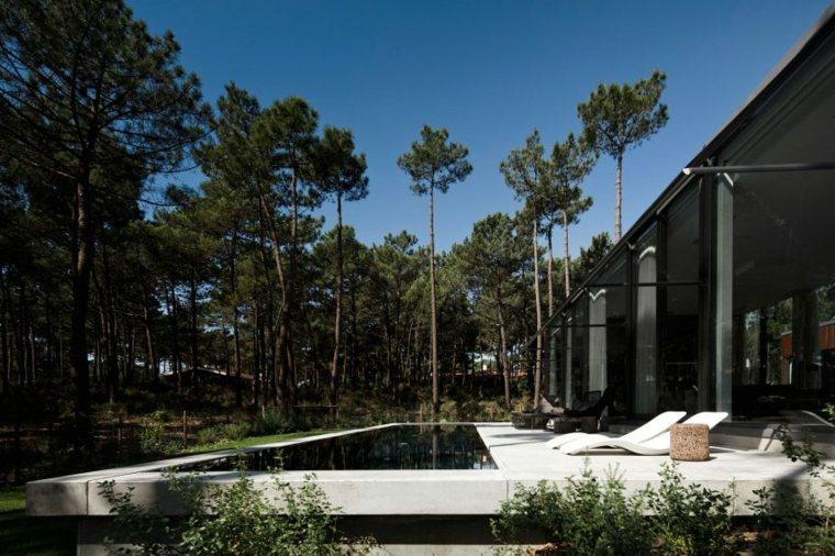 paisajes naturales ideas exteriores piscina lineas