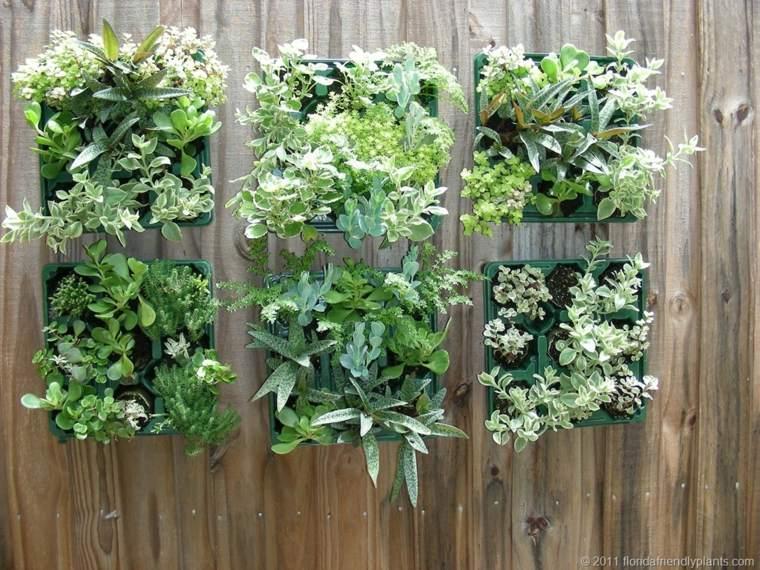 paneles jardines verticales cuadrados