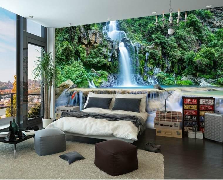 Papel para paredes una decoraci n elegante for Murales de pared para dormitorios