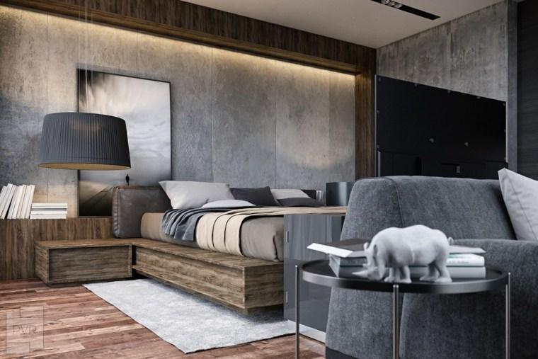 habitación paredes cemento Roman Pravnik