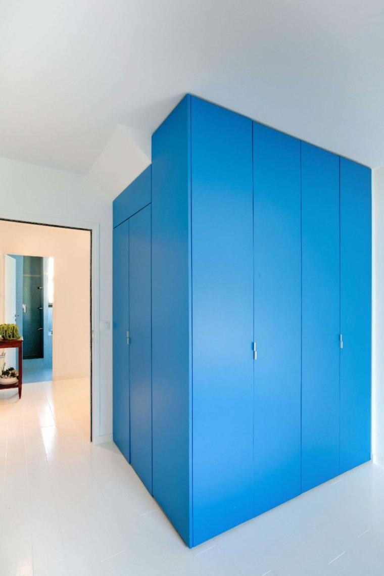 paredes esquinas mueble azul ideas