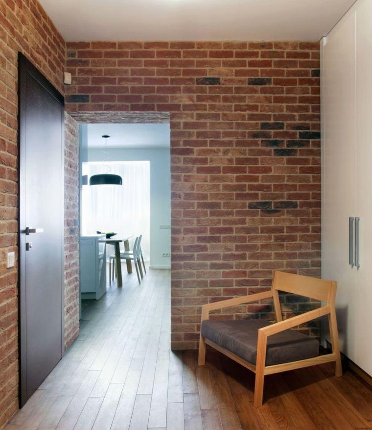 paredes ladrillo apartamento diseno lugerin architects ideas