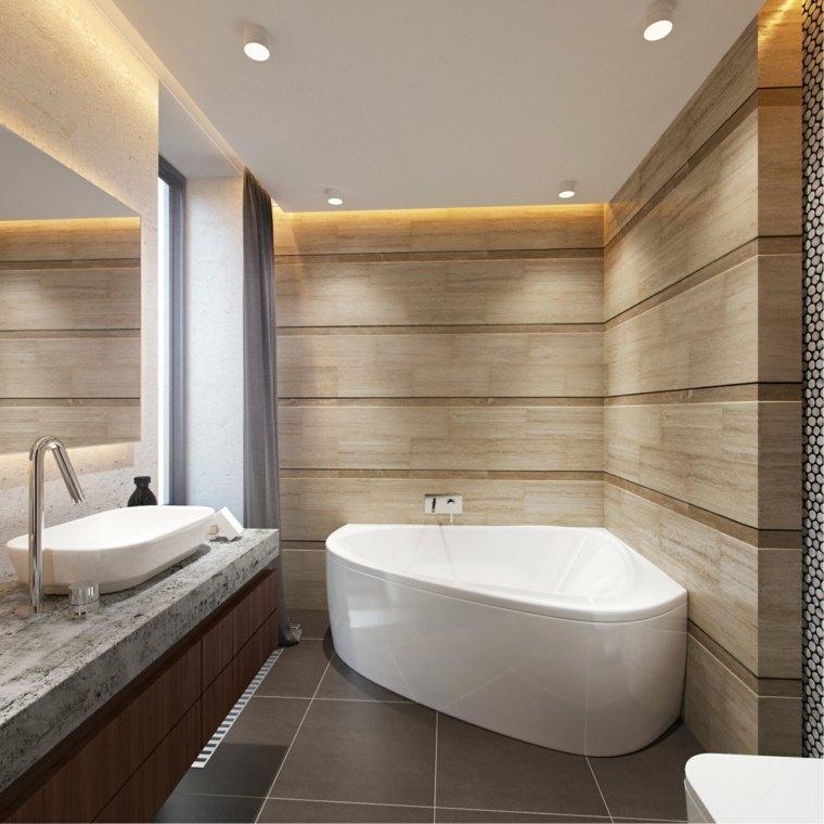 Diseño de baños con iluminación escondida