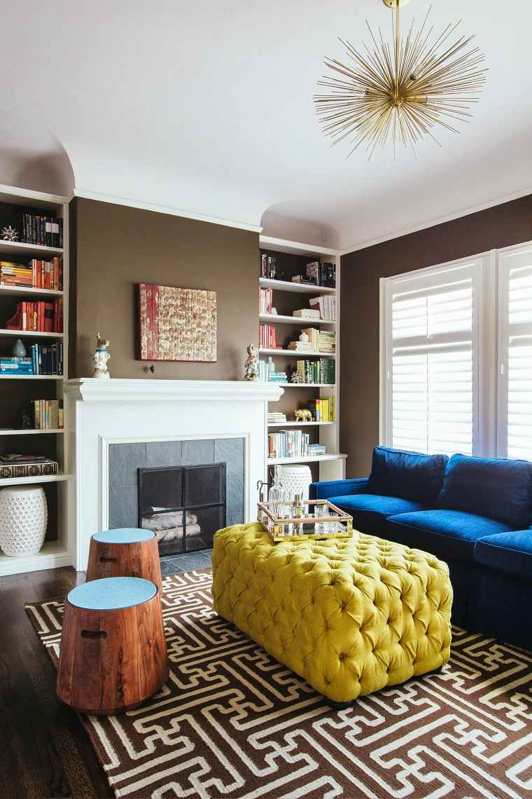 paredes oscuras salon muebles colores atrictivos ideas