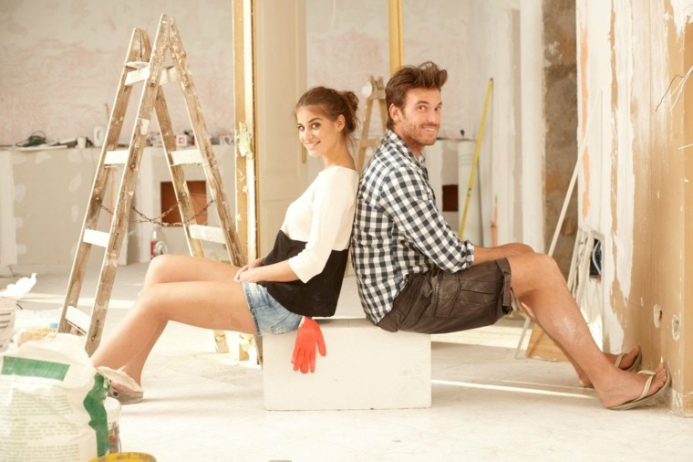 pareja reforma el hogar original