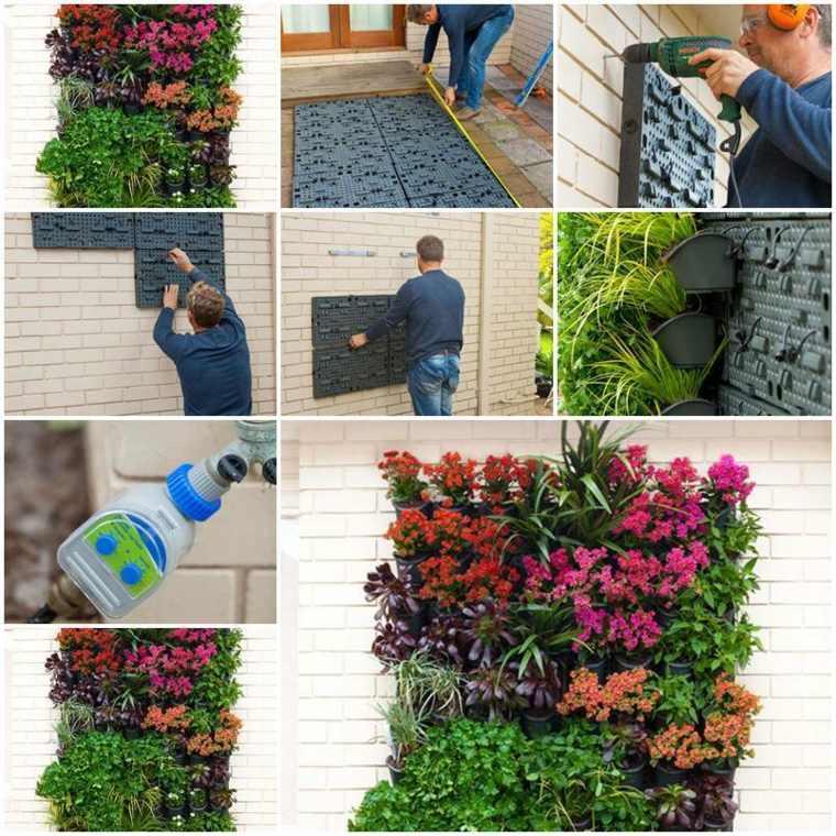 pasos para colocar jardin vertical