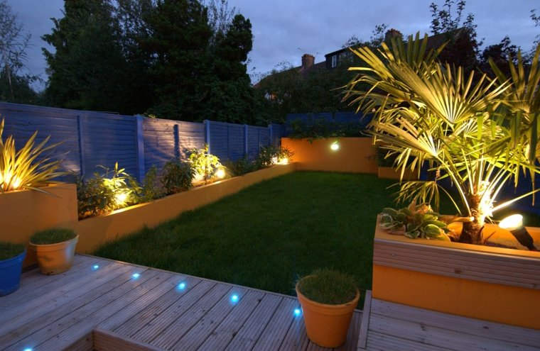 patio jardin luces led