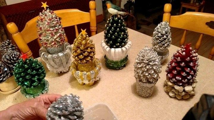 piñas decoracion inviernos estilos tonos