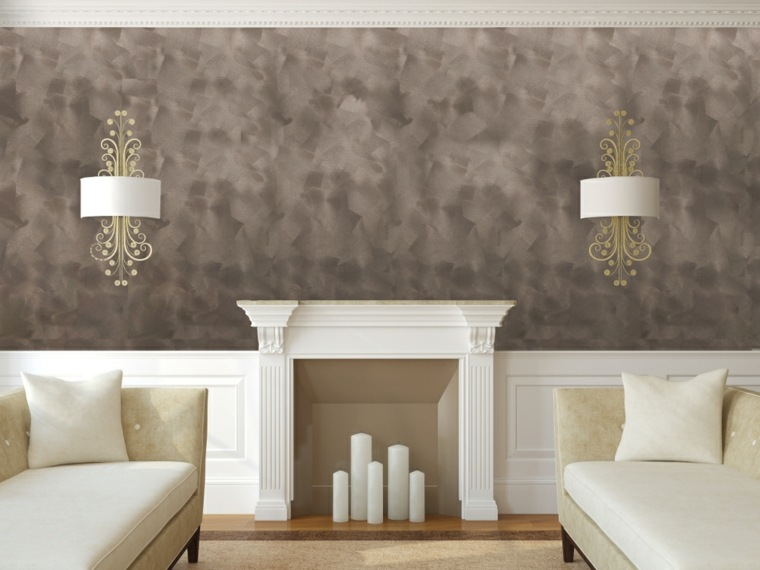 Pintura decorativa para el interior de casa for Pintar paredes con efectos