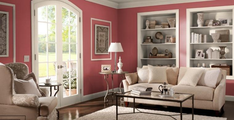 pintura para paredes behr color interior rojo ideas
