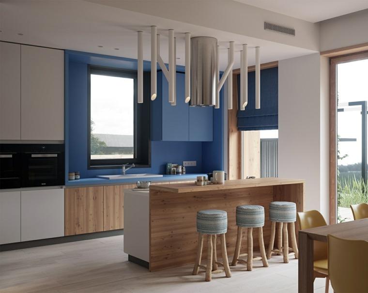 Pintura para paredes los colores modernos esta temporada for Pintura cocina pato azul