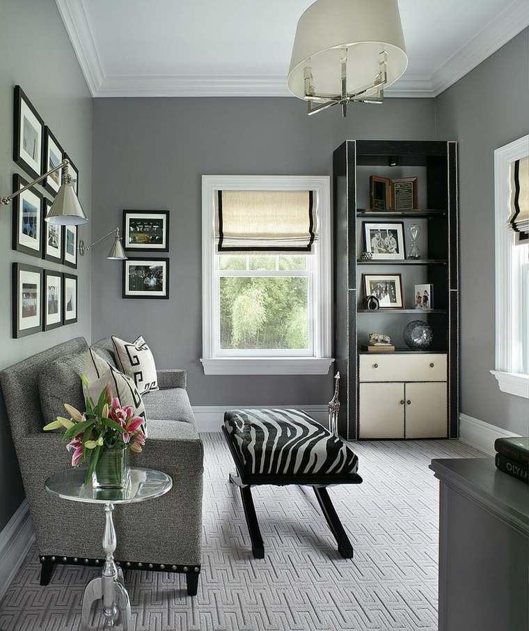 pintura para paredes salon gris pequeno ideas