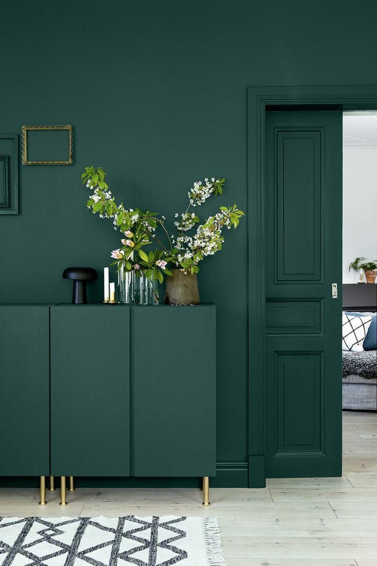 pintura para paredes verde oscuro muebles paredes ideas