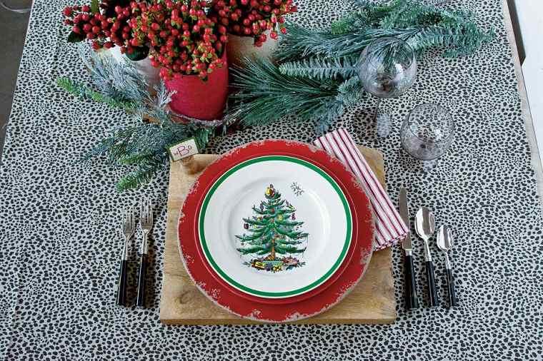 plato original mantel mesa cena navidad ideas