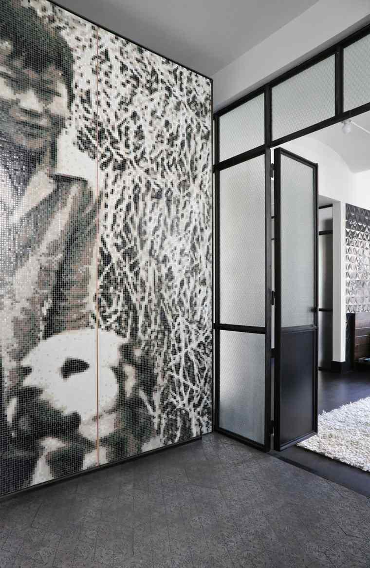 puerta abierta metales estilos acceso