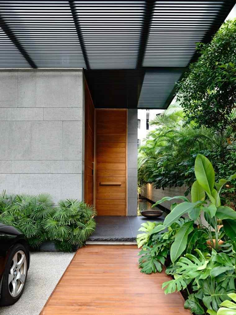 puertas diseno madera clara ong ong exteriores
