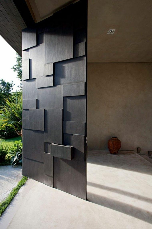 puertas diseño madera oscura diseno deborah aguiar elegantes