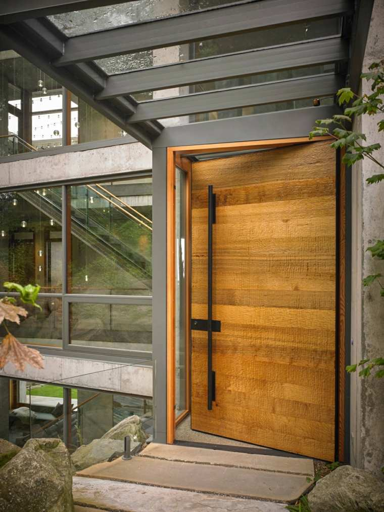 puertas diseno textura industrial mcclennan architects lineas
