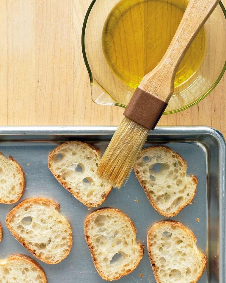 recetas fáciles preparar crostinis
