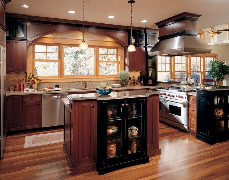 reformas cocina muebles madera estilo ideas