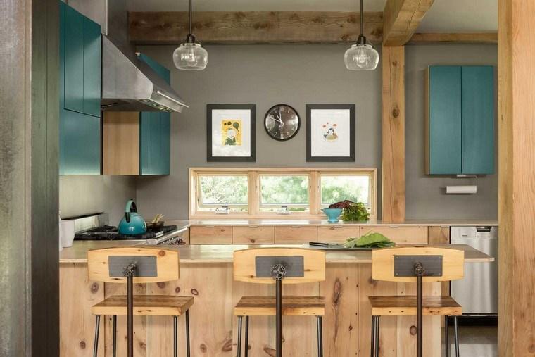 reformas cocina muebles madera natural opciones diseno ideas