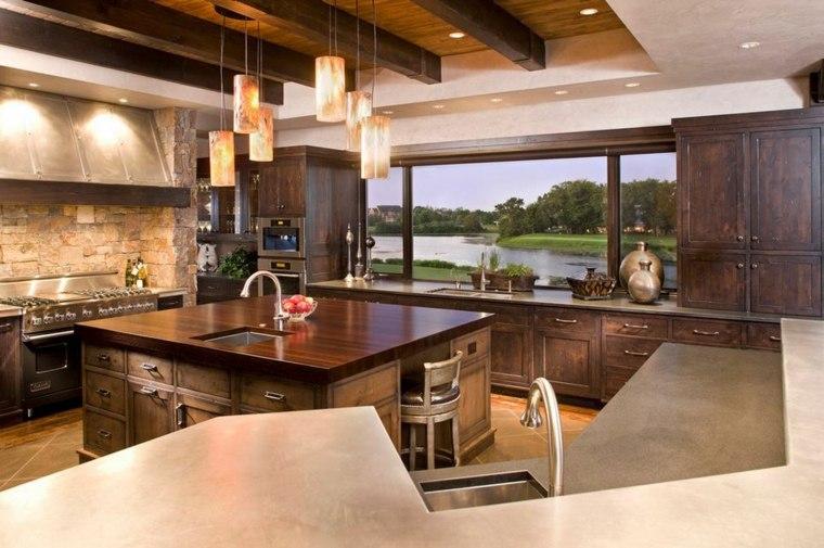 remodelación de cocinas elegantes madera