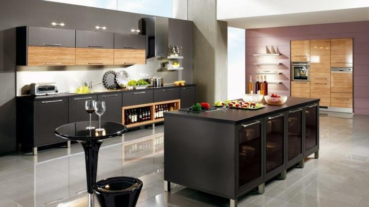 remodelación de cocinas negras
