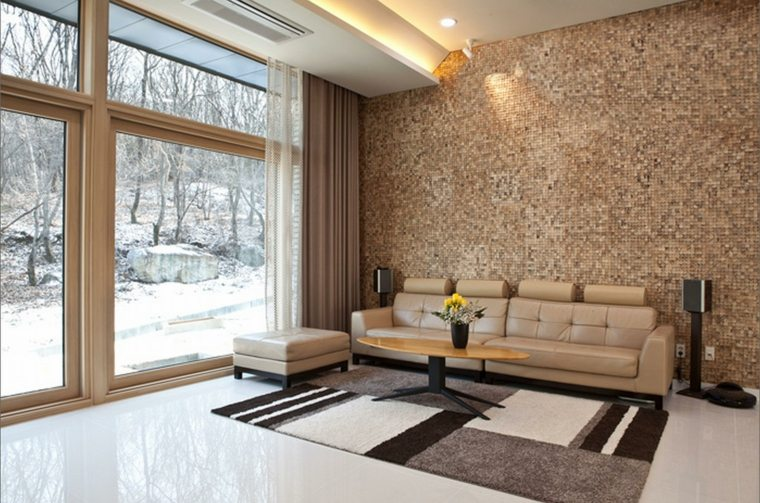 revestimiento madera pequeno espacio cristales