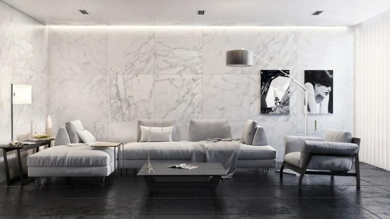 revestimientos de paredes losas marmol lujosas ideas