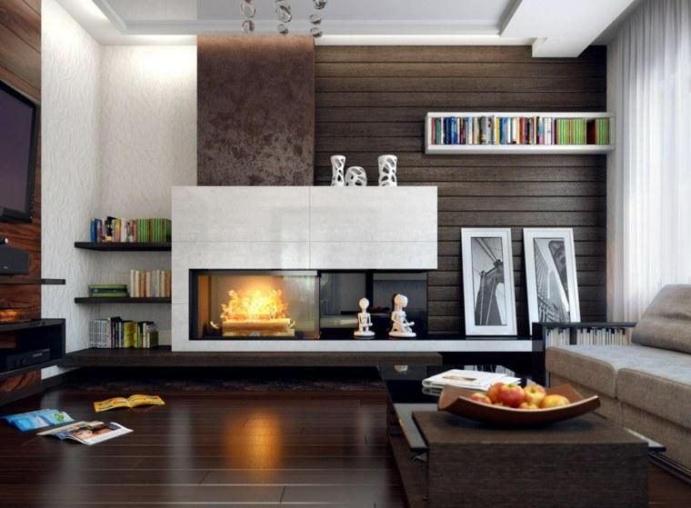 revestimientos paredes paneles madera caracteristica oscura ideas