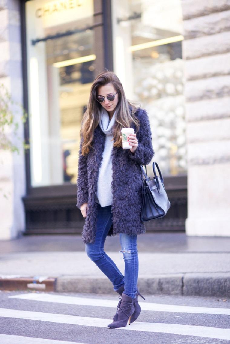 ropa premama opciones diseno invierno ideas