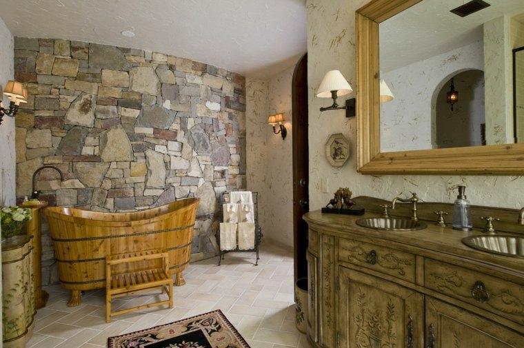 rustico calido espacio bano calidos