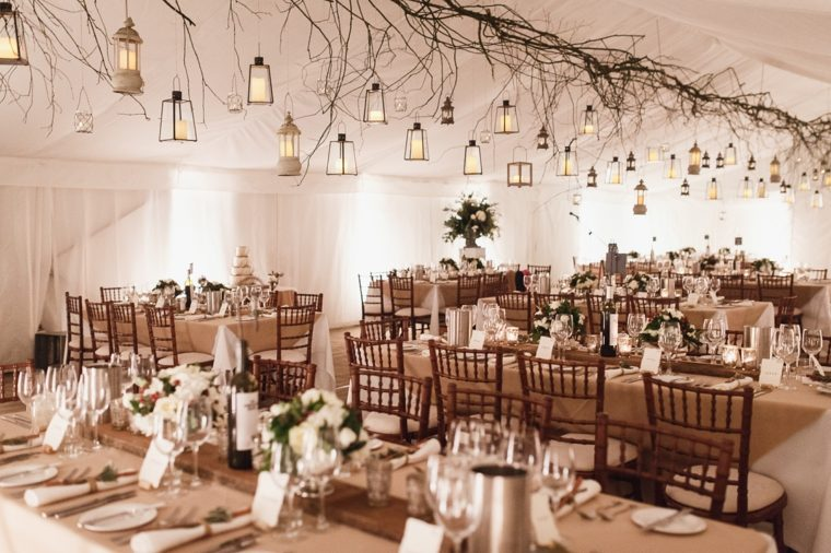 sala recepcion boda decorada boda invierno ideas