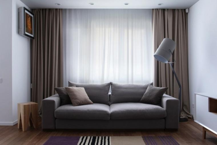 salon apartamento diseno lugerin architects ideas