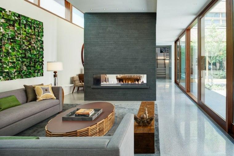salon chimenea original diseño