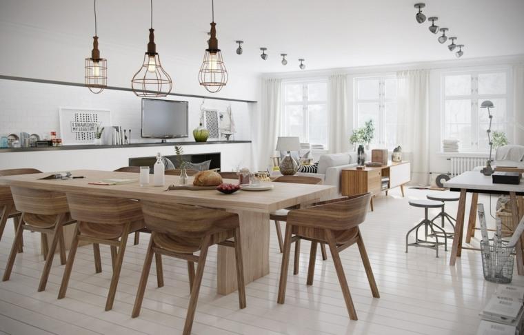 salón comedor muebles madera