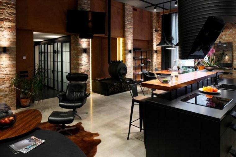 diseño salon moderno cocina bar