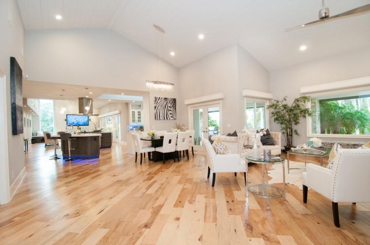 salon bonito suelo madera natural