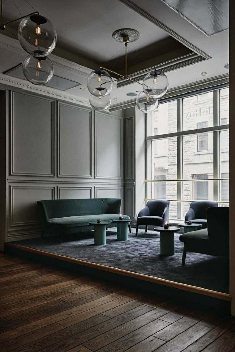 salones de diseno oscuro muebles paredes ideas