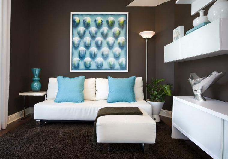salones de diseno oscuro sofa muebles blancosideas