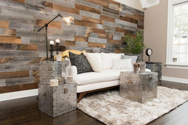 salones inspiraciones madera paneles metales